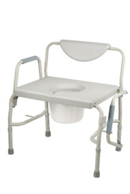 Bariatric Drop Arm Bedside Commode Chair By Drive