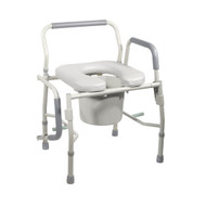 Steel Drop Arm Bedside Commode with Padded Seat & Arms By Drive