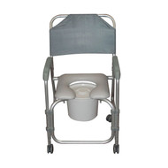 Lightweight Portable Shower Chair Commode with Casters By Drive