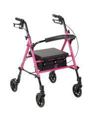 Breast Cancer Awareness Adjustable Height Rollator By Drive