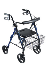 "DLite Walker Rollator with 8"" Wheels and Loop Brakes By Drive"