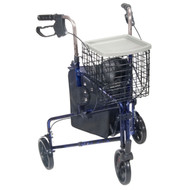3 Wheel Walker Rollator with Basket Tray and Pouch By Drive