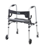 Clever Lite LS Walker Rollator with Seat and Push Down Brakes By Drive