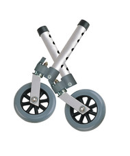"Swivel Lock Walker Wheels, 5"", 1 Pair By Drive"