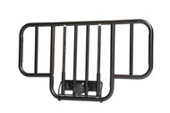 No Gap Half Length Side Bed Rails with Brown Vein Finish, 1 Pair By Drive