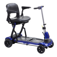 ZooMe Flex Ultra Compact Folding Travel 4 Wheel Scooter, Blue By Drive