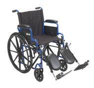 Blue Streak Wheelchair with Flip Back Desk Arms By Drive