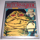 1983 Star Wars ROTJ Jabba The Hutt Paint By Number Set, wear