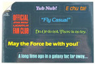 1985 Star Wars Official Fan Club Film Lines Stickers