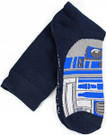 Star Wars R2-D2 (R2D2) Top of Foot Men's Crew Socks Shoe Size 6-12