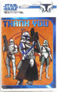 Star Wars Clone Wars Party Thank You Cards w/ Clone Troopers 8 pack
