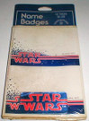 1978 Star Wars Logo 16 Pack of Name Badges Sealed, age spots