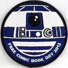 Star Wars 2013 Free Comic Book Day R2-D2 Embroidered Patch