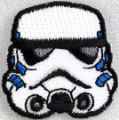Star Wars Stormtrooper Head Mini Embroidered Patch 1.5 inch