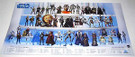 2008 Star Wars Hasbro Action Figure/Die Cast Poster 16x30""