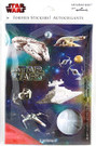 Star Wars Vehicles Puffy Stickers Pack w/ Slave 1, X-Wing, Death Star