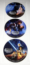 Star Wars Trilogy DVD Release Sticker set of 3