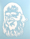 Star Wars Chewbacca White Vinyl Window Decal