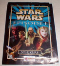 Star Wars England Episode 1 Merlin Stickers empty wrapper