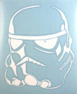 Star Wars Stormtrooper White Vinyl Window Decal