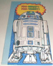 "1978 Star Wars R2-D2 ""Hello Earthling"" Die Cut Card"
