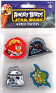Star Wars Angry Birds 4 Pack of Erasers Han, Vader, Stormtrooper, Yoda