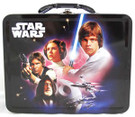 Star Wars Classic Han Leia Luke Obi Wan Embossed Lunch Box Shape Tin