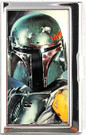 Star Wars Boba Fett Face Small Metal Business Card Holder