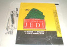 1983 Star Wars ROTJ Topps Series 1 Empty Wax Wrapper w/Jabba