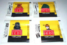 1983 Star Wars ROTJ Topps Series 1 Empty Wax Wrapper Set of 4, unused from roll