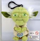 "Star Wars Mini 4"" Talking Plush Yoda Clip-On."