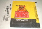 1983 Star Wars ROTJ Topps Series 1 Empty Wax Wrapper w/Wicket