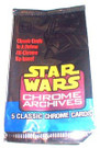 Star Wars Topps Chrome Archives Empty Wrapper