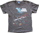 Star Wars Kids Death Star Millennium Falcon Space Battle Grey T-Shirt Size M