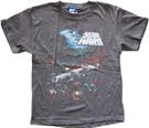 Star Wars Kids Death Star Millennium Falcon Space Battle Grey T-Shirt Size M