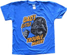 Star Wars Kids Darth Vader Dad's Little Trouble Maker Blue T-Shirt Size S (6/7)