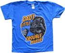 Star Wars Kids Darth Vader Dad's Little Trouble Maker Blue T-Shirt Size S (6/7)