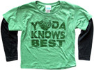Star Wars Kids Yoda Knows Best Green Long Sleeve T-Shirt Size 2T