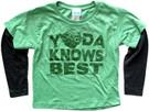 Star Wars Kids Yoda Knows Best Green Long Sleeve T-Shirt Size 2T
