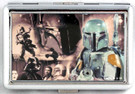 Star Wars Boba Fett Collage Large Metal Business Card Holder