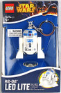 "Star Wars Lego R2-D2 (R2D2) Figure Key Chain / LED Key Light 2""."