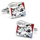 Star Wars Stormtrooper Freeze Rebel Scum Cufflinks in Box. Officially Licensed