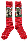 Star Wars Yoda Santa Cap Junior/Women's Christmas Socks Shoe Size 4-10