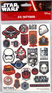 Star Wars 24 Count Tattoos Pack Force Awakens BB-8, Trooper