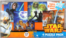 Star Wars Poster Art Scenes 100pc 4 Mini Puzzles