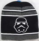 Star Wars Stormtrooper Striped Black Boys/Adult Beanie