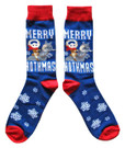 Star Wars Taun Taun Merry Hothmas Men's Crew Christmas Socks Shoe Size 6-12