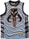 Star Wars Men's Boba Fett Mandalorian Skull Embroidered Jersey Size M