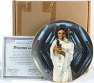 1987 Star Wars Princess Leia Plate in box with COA