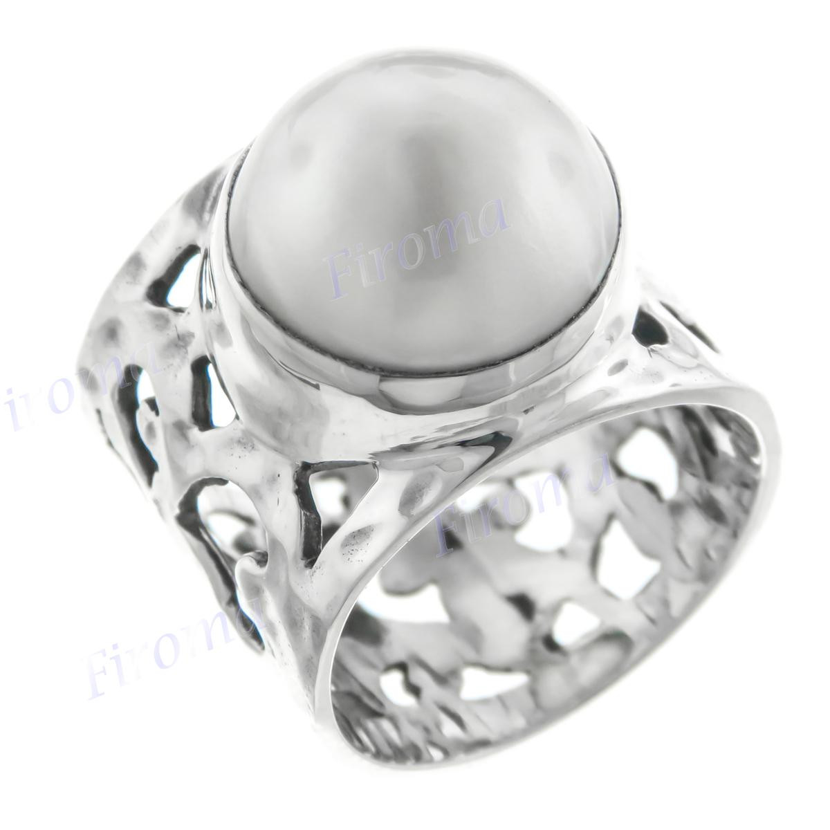 """13//16/"""" BIG WHITE MABE PEARL 925 STERLING SILVER earrings"""